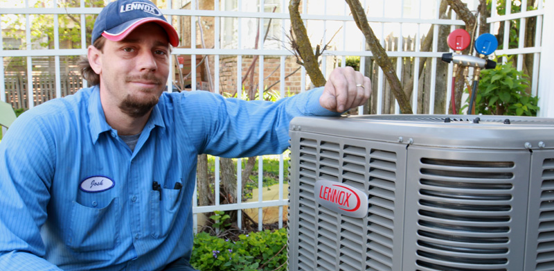 new air conditioner installed by technician