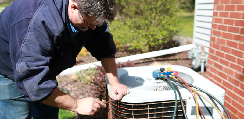 ac maintenance and cleaning from technician