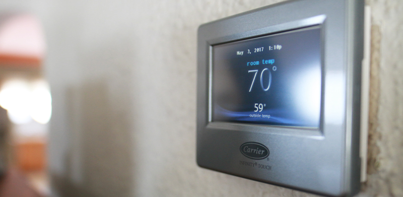 Programmable thermostats regulate temperature for every room in your home