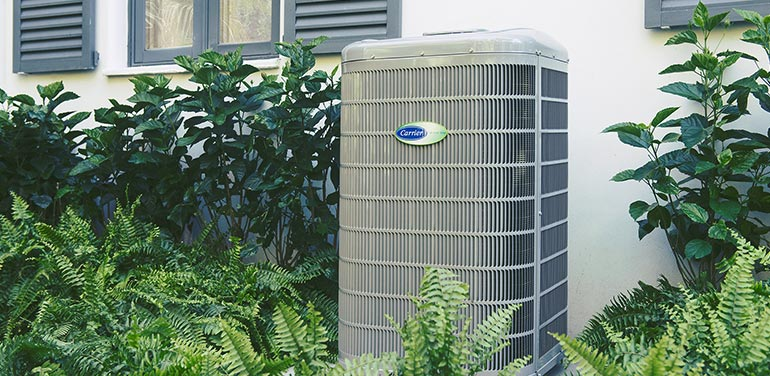 Carrier air conditioner outside of a home