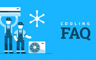 cartoon hvac tecnicians providing air conditioning faqs