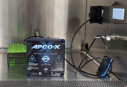 APCO-X testing for COVID-19 effectiveness