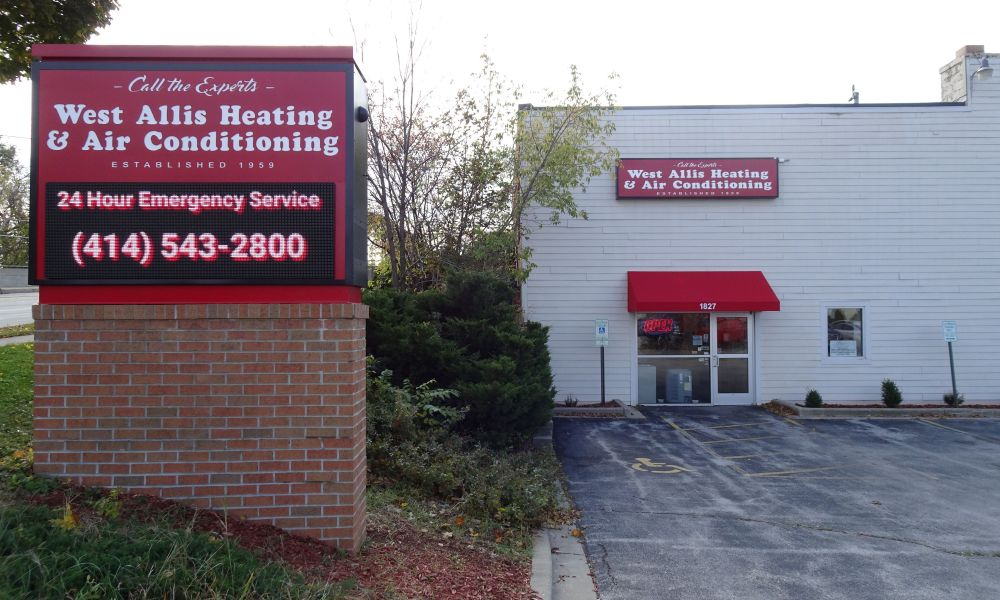 west allis heating & air conditioning location