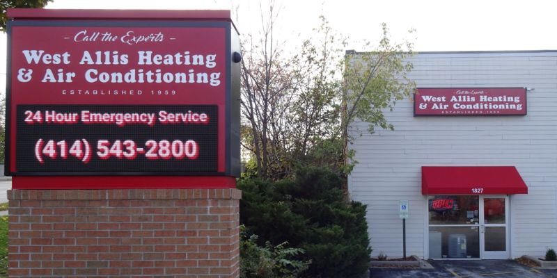 West Allis Heating & Air Conditioning shop sign